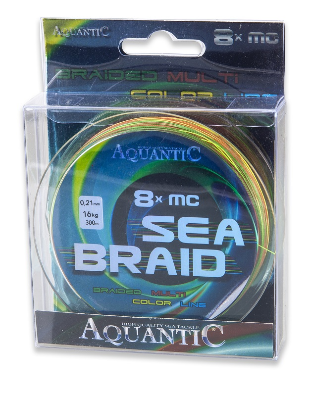 Aquantic šňůra osmipramenná MC Sea-Braid 0,21 mm/300 m multicolor