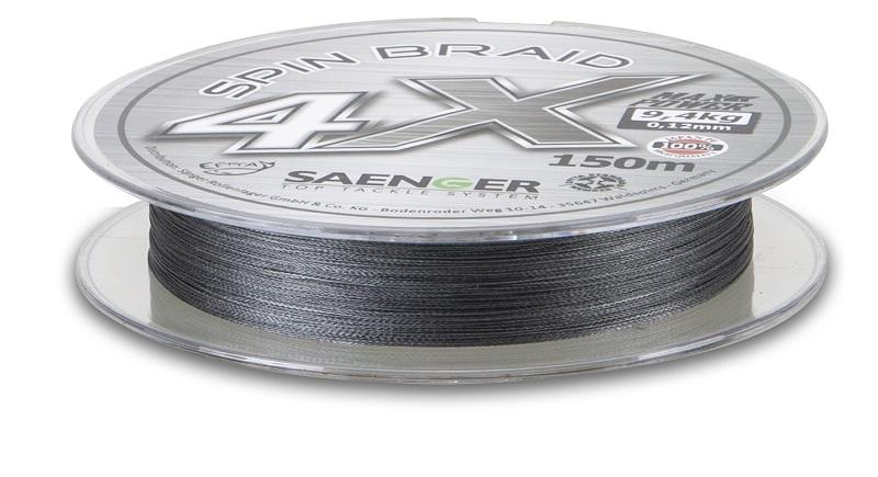Saenger šňůra 4 X Spin Braid 150 m/ 0,18mm