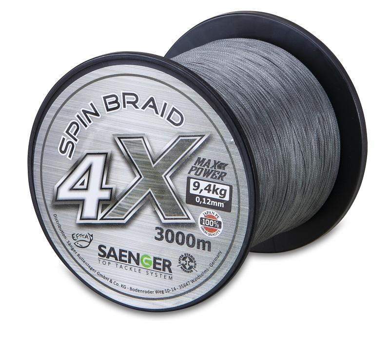 Saenger šňůra 4 X Spin Braid 3000 m/ 0,18mm