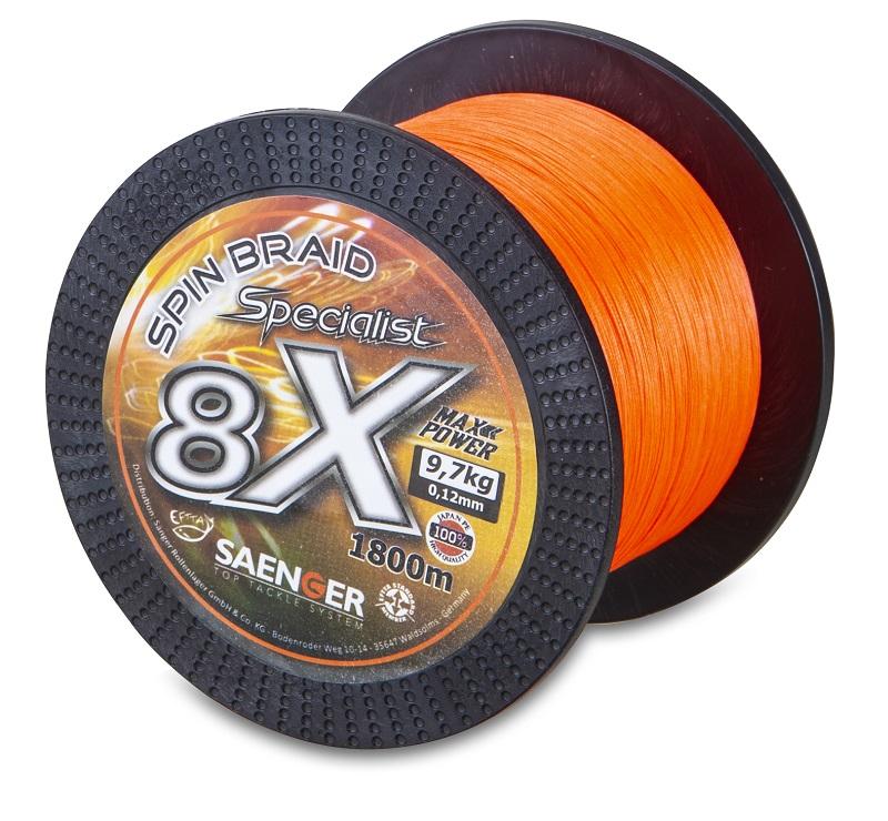 Saenger šňůra 8 X Specialist Spin Braid 1800 m/ 0,16mm