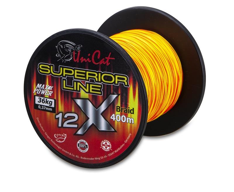 Uni Cat šňůra 12 X Superior Line 0,60mm, 400m, 62 kg