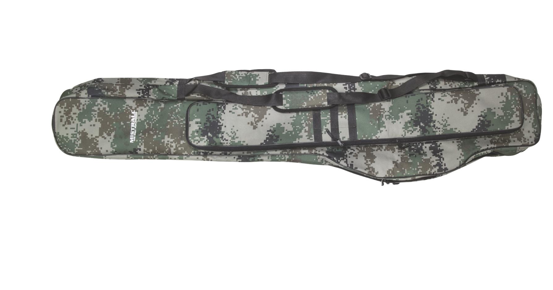 Mistrall brašna na pruty, 2 komory, 155 cm, maskáč