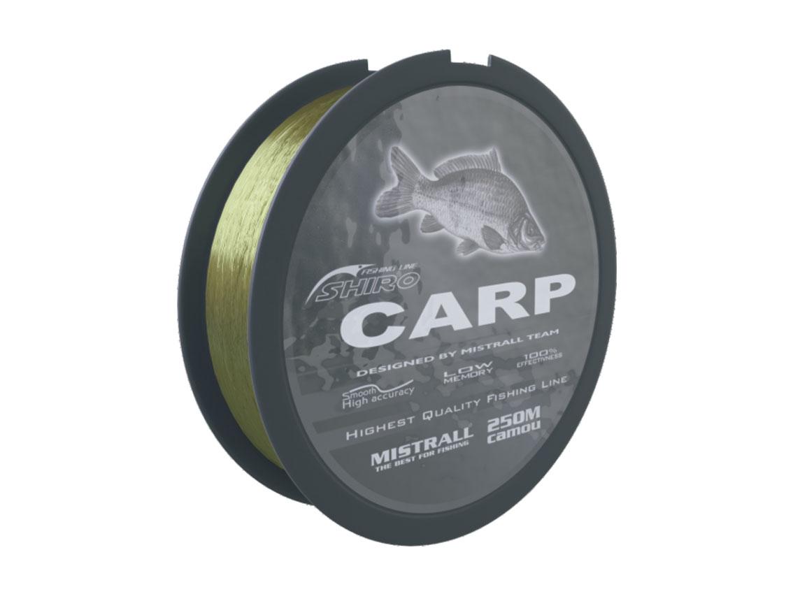 Mistrall vlasec Shiro carp Camou 250 m, průměr 0,25 mm
