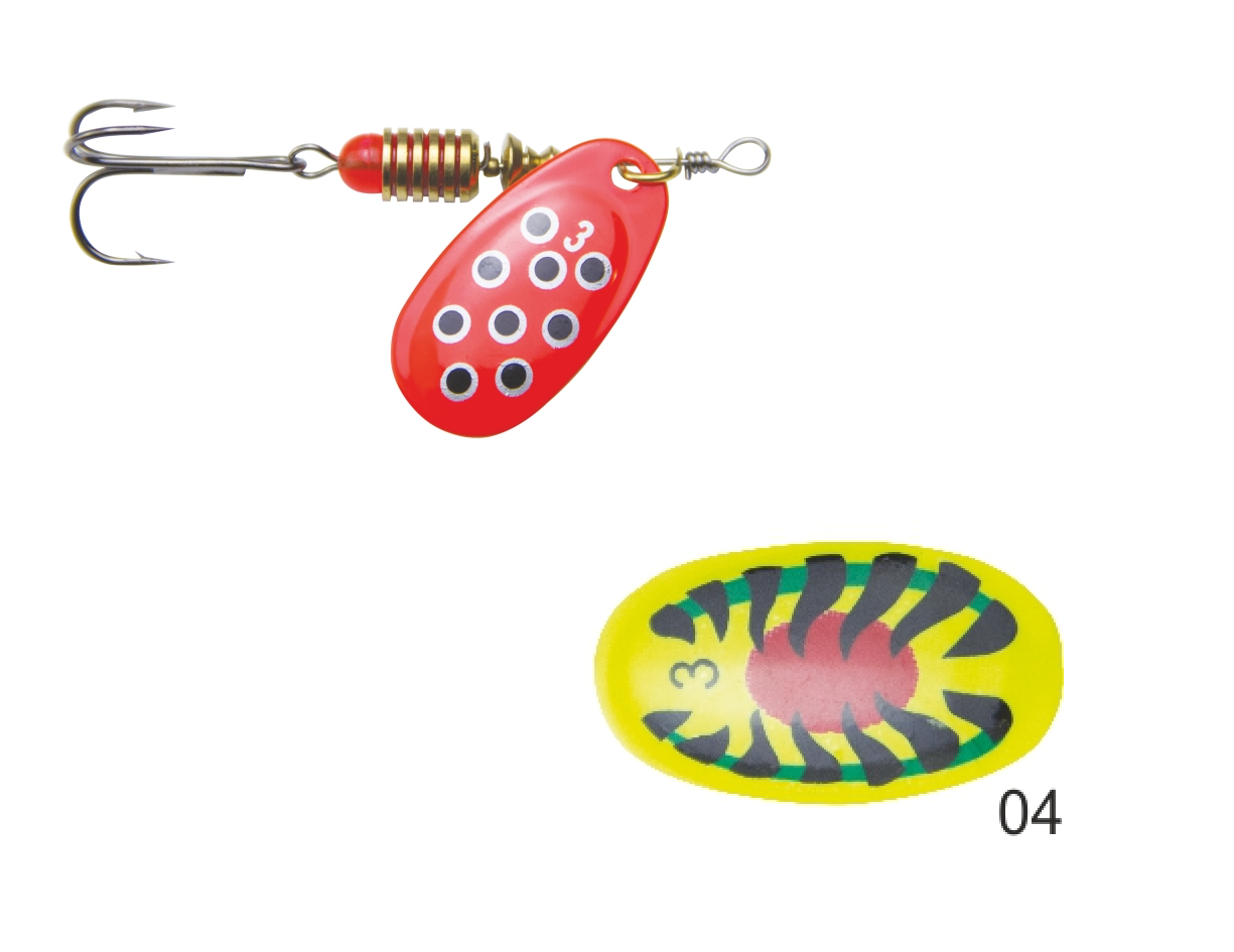 Mistrall rotační třpytka SPERSO vel. 2, 4 g, barva 04