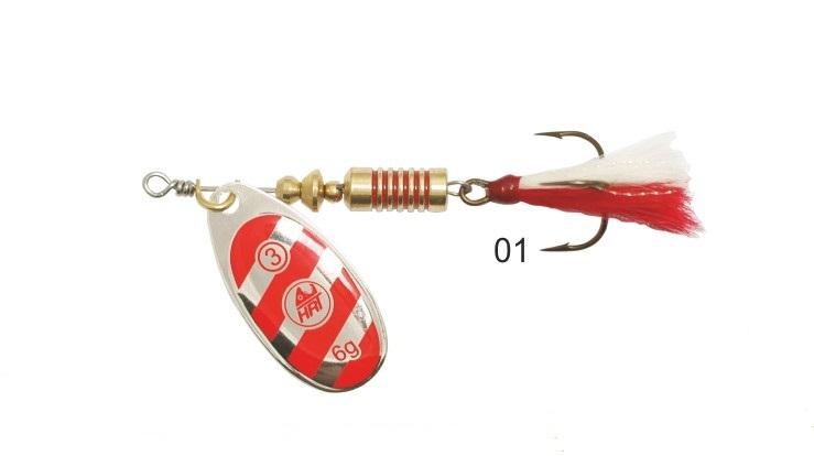Mistrall rotační třpytka Ospray Fly vel. 4, 10 g, vzor: 01