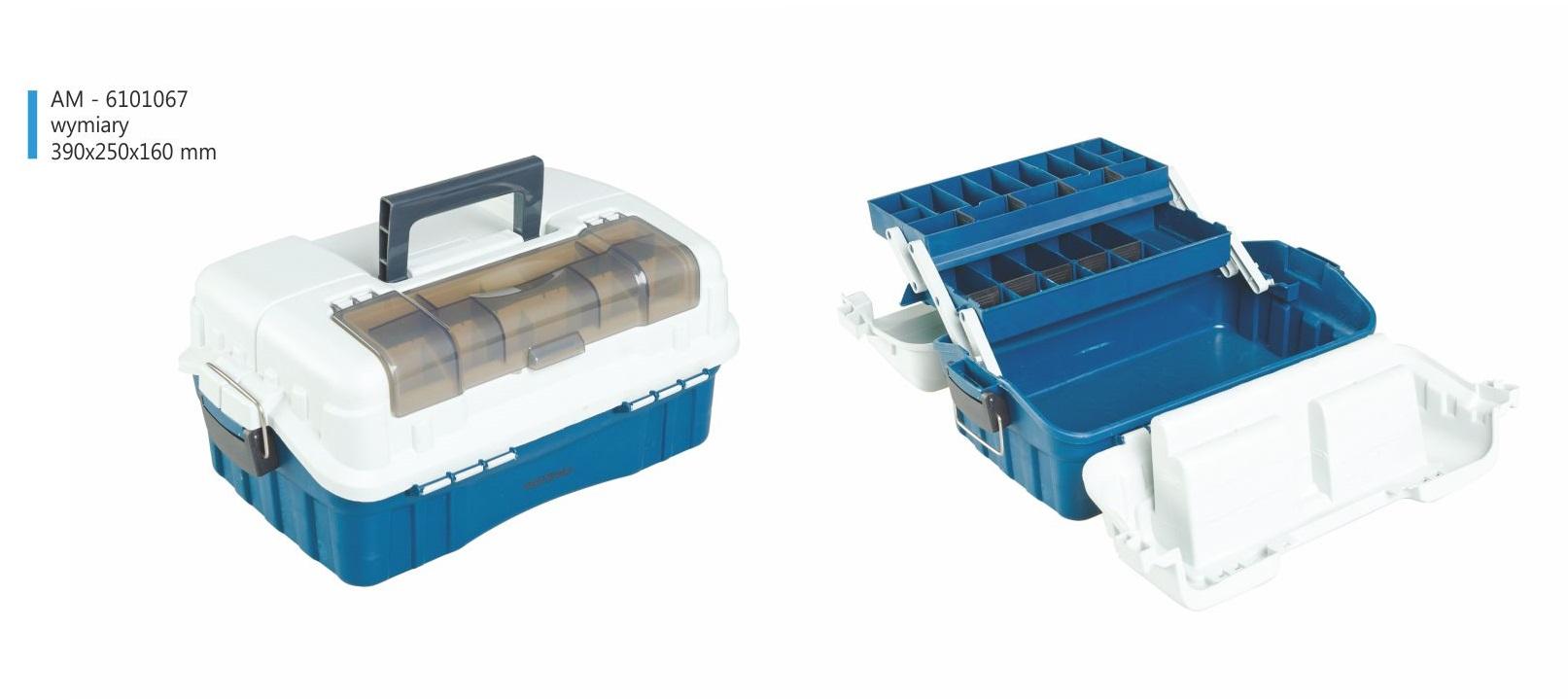 Mistrall rozkládací kufřík na bižuterii, modrý, 390 x 250 x 160 mm