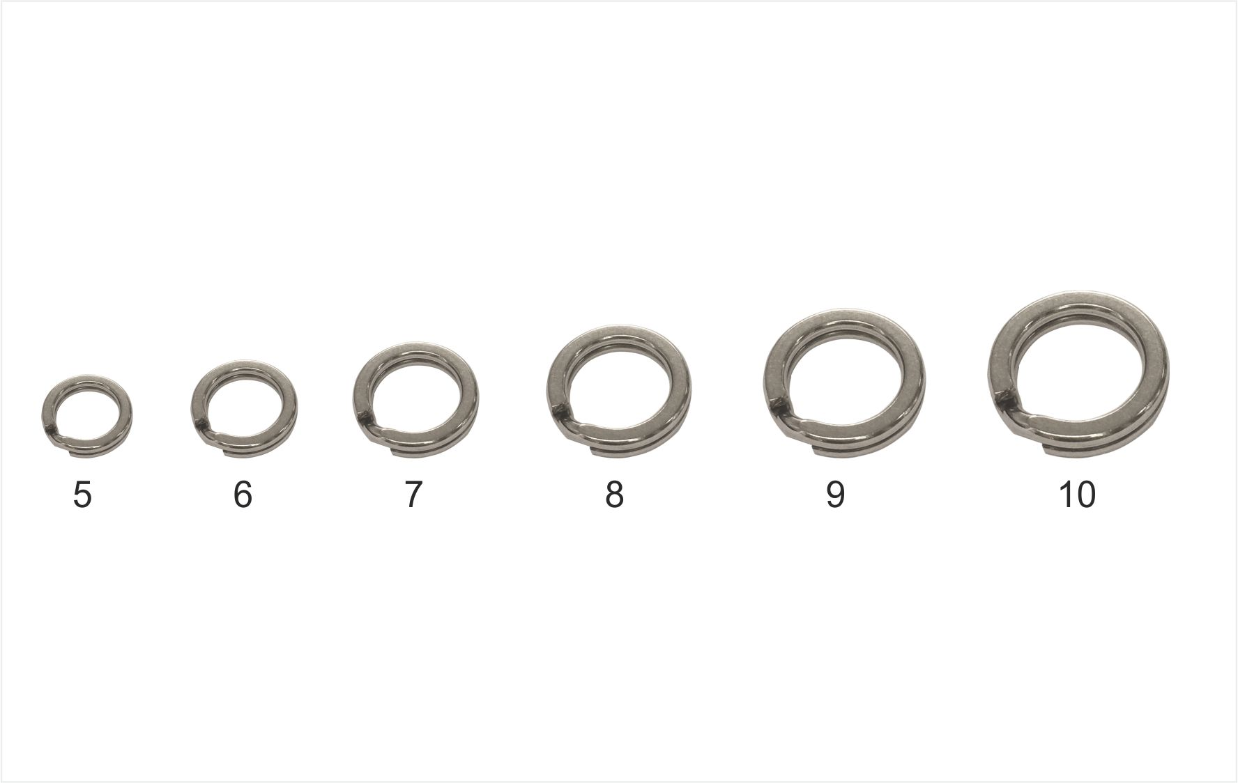 Mistrall pevnostní kroužek Split ring, vel. 9, 70 kg, 10ks/bal