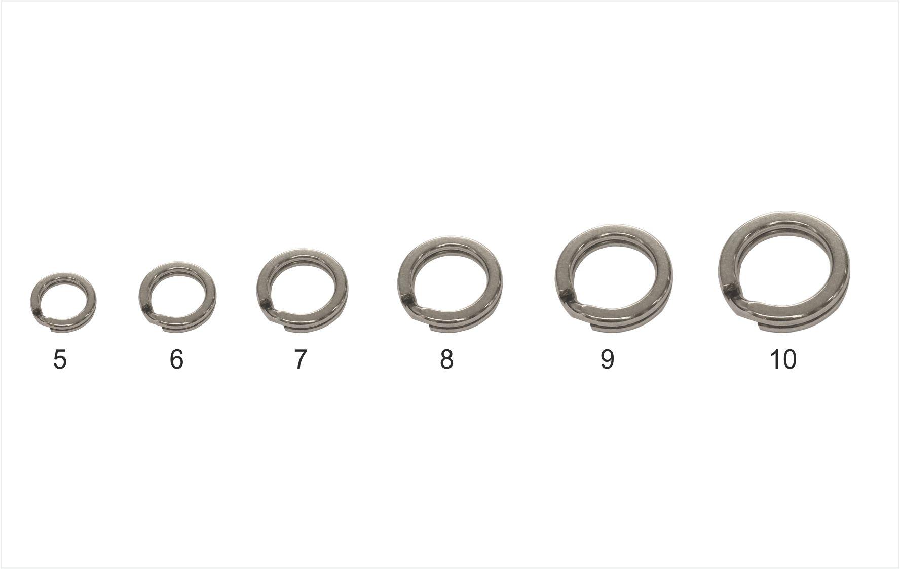Mistrall pevnostní kroužek Split ring, vel. 10, 90 kg, 10ks/bal