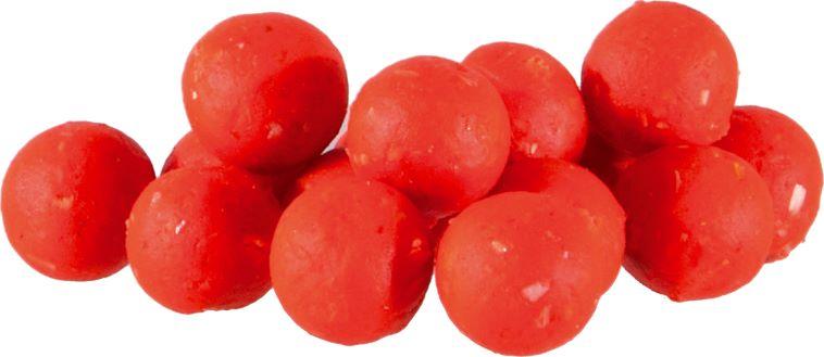 MS Range Mikro fluo boilie, 8 mm, červená jahoda
