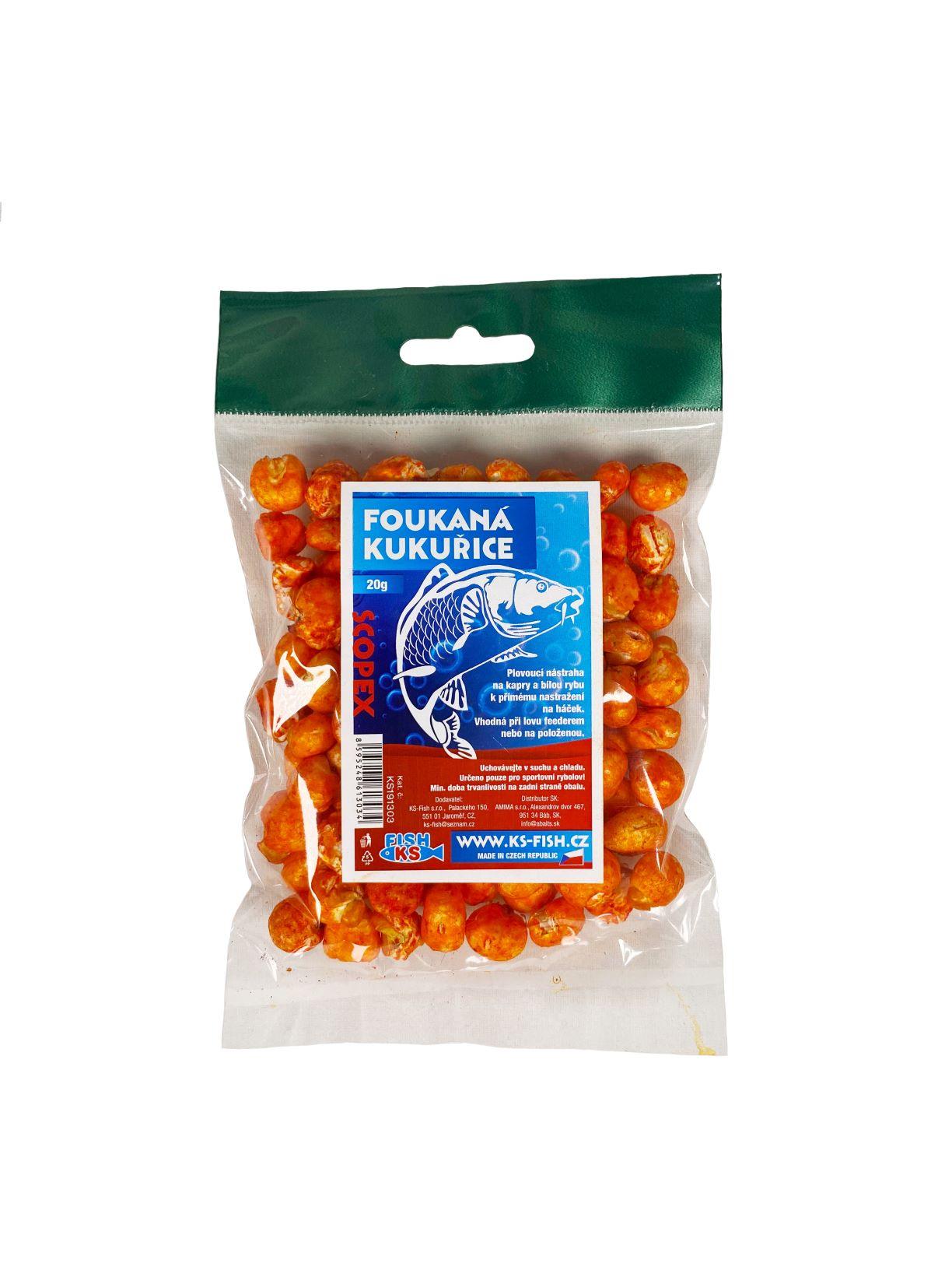 KS Fish foukaná kukuřice 20g, scoopex