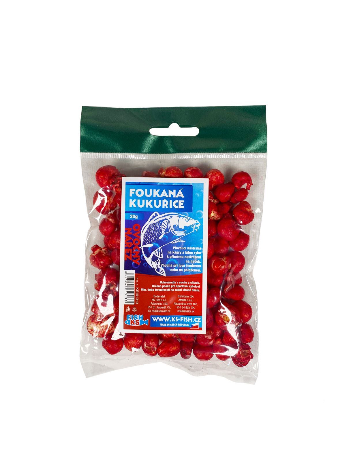 KS Fish foukaná kukuřice 20g, ovocný nářez