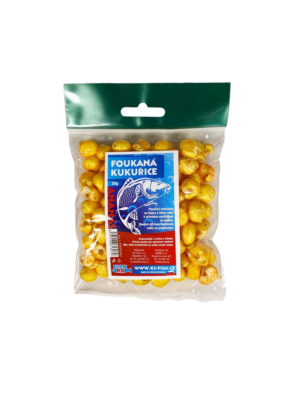 KS Fish foukaná kukuřice 20g, ananas