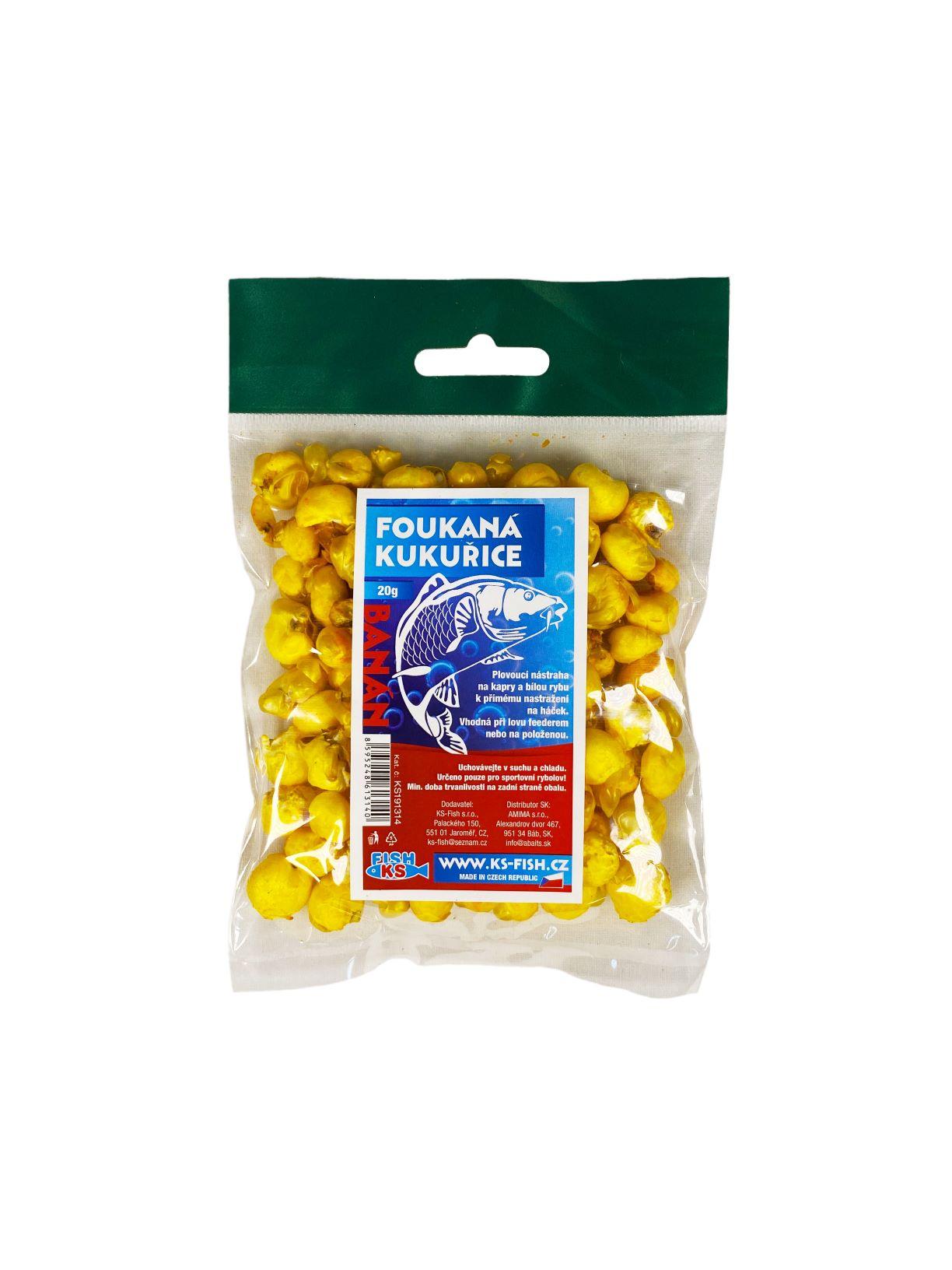 KS Fish foukaná kukuřice 20g, banán