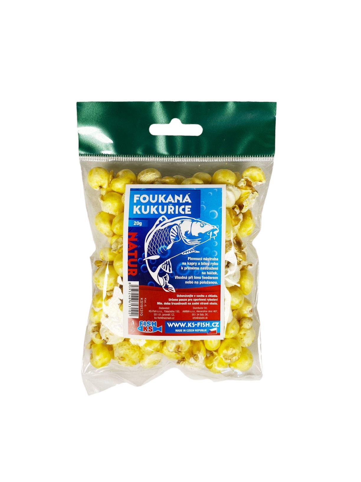 KS Fish foukaná kukuřice 20g, natur