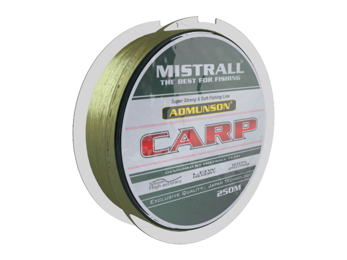 Mistrall vlasec Admunson – Carp camou 250 m, průměr 0,25 mm