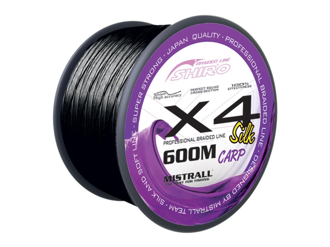 - Mistrall šňůra X4 Black carp 600 m, průměr 0,28 mm
