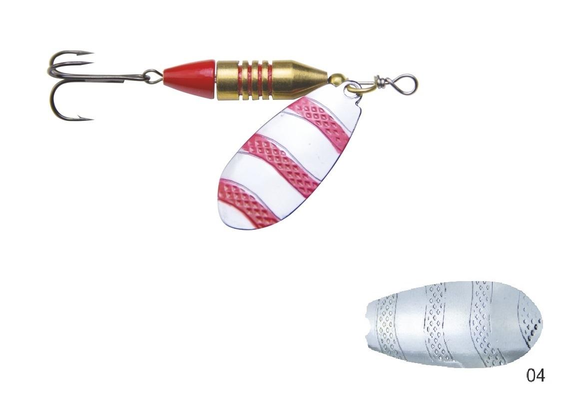 Mistrall rotační třpytka VIBRESO vel. 2, 12g, barva 04