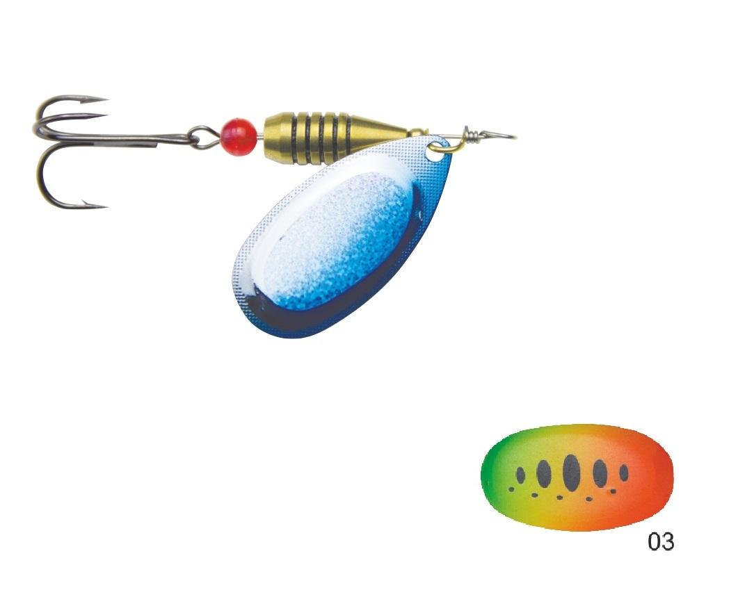 Mistrall rotační třpytka CALIRO vel. 4, 9g, barva 03