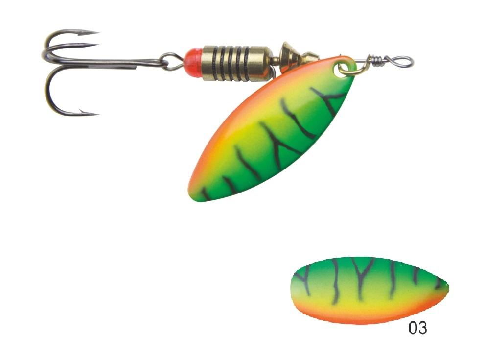 Mistrall rotační třpytka SORIUS vel. 1, 4g, barva 03