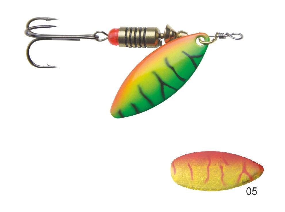 Mistrall rotační třpytka SORIUS vel. 1, 4g, barva 05