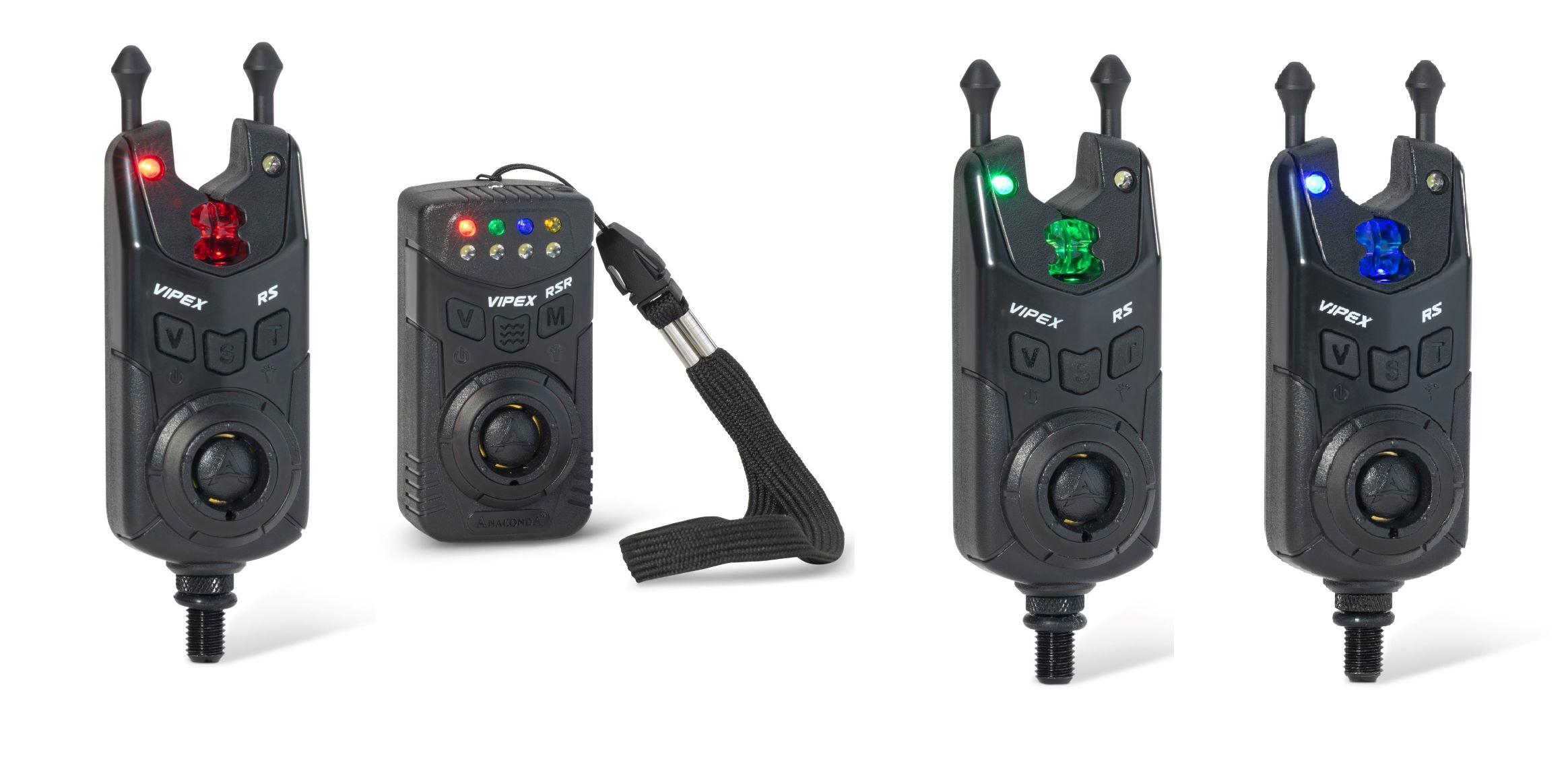 Anaconda sada 3 hlásičů s příposlechem Vipex RS (červená. modrá. zelená)