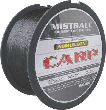 Mistrall vlasec Admunson - Carp black 600m, průměr: 0,40mm