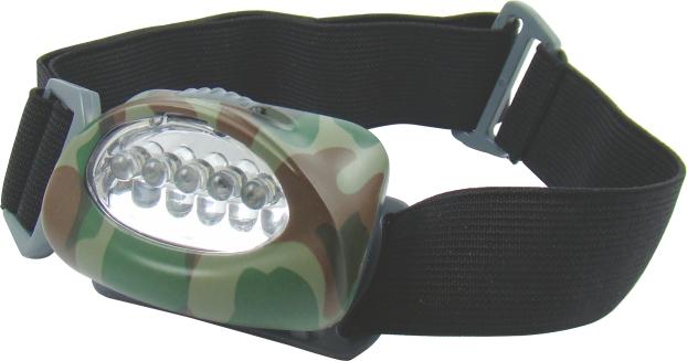 Mistrall čelovka 5 LED diod, barva maskáč