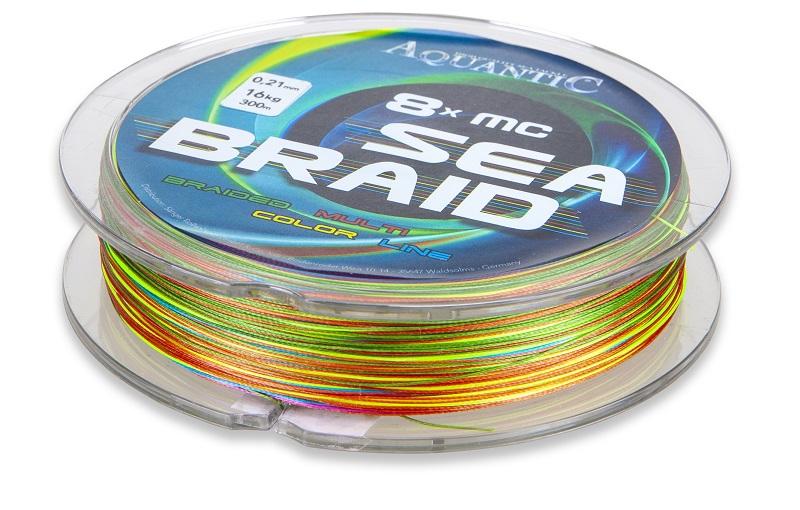Aquantic šňůra osmipramenná MC Sea-Braid 0,13 mm/300 m multicolor
