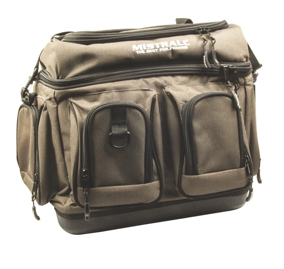 Mistrall rybářská taška s pevným dnem a kapsami, 44x27x35 cm