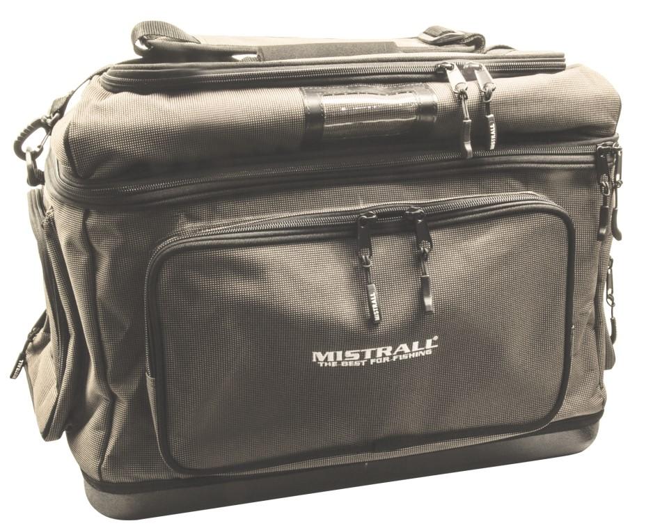 Mistrall rybářská taška s pevným dnem a kapsami, 50x38x38 cm