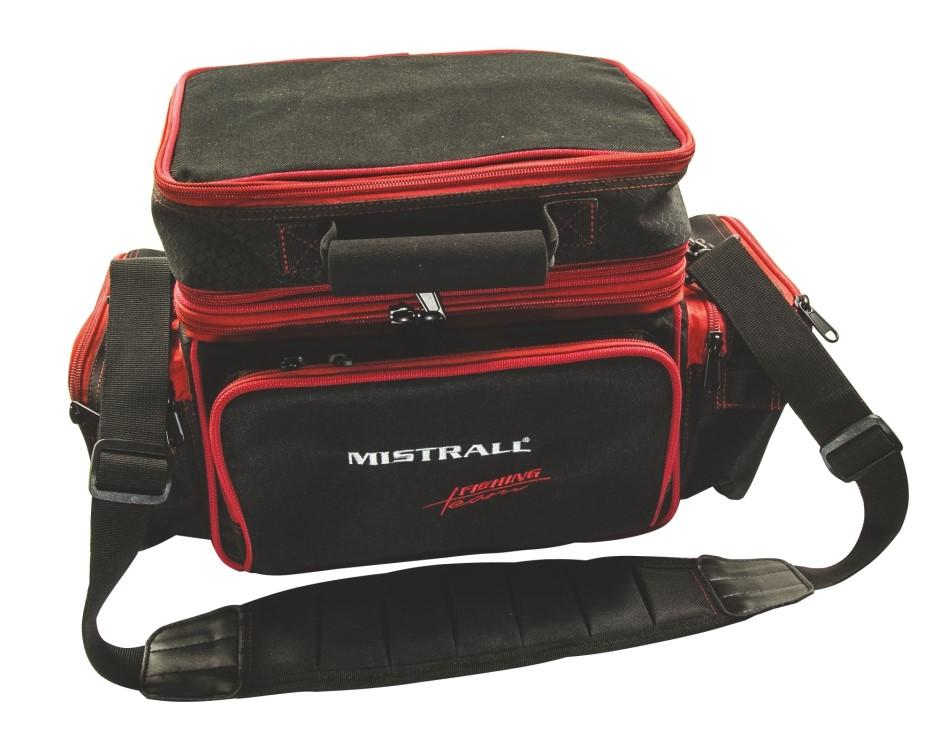 Mistrall rybářská taška 86x43x35 cm, černo-červená