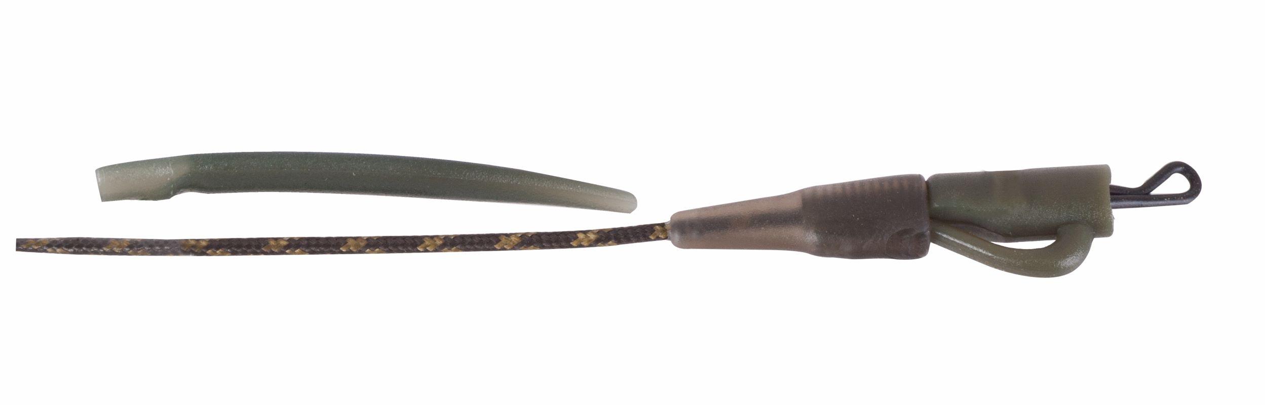 Anaconda záves na olovo s rovnátkom Safety Lead Clip, zelená, 45 lb, 2 ks/bal