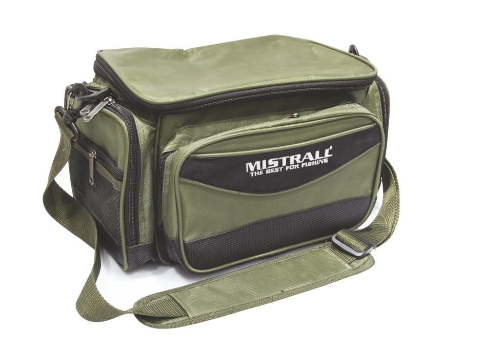 Mistrall rybářská taška s kapsami, 38x22x20 cm, zelená
