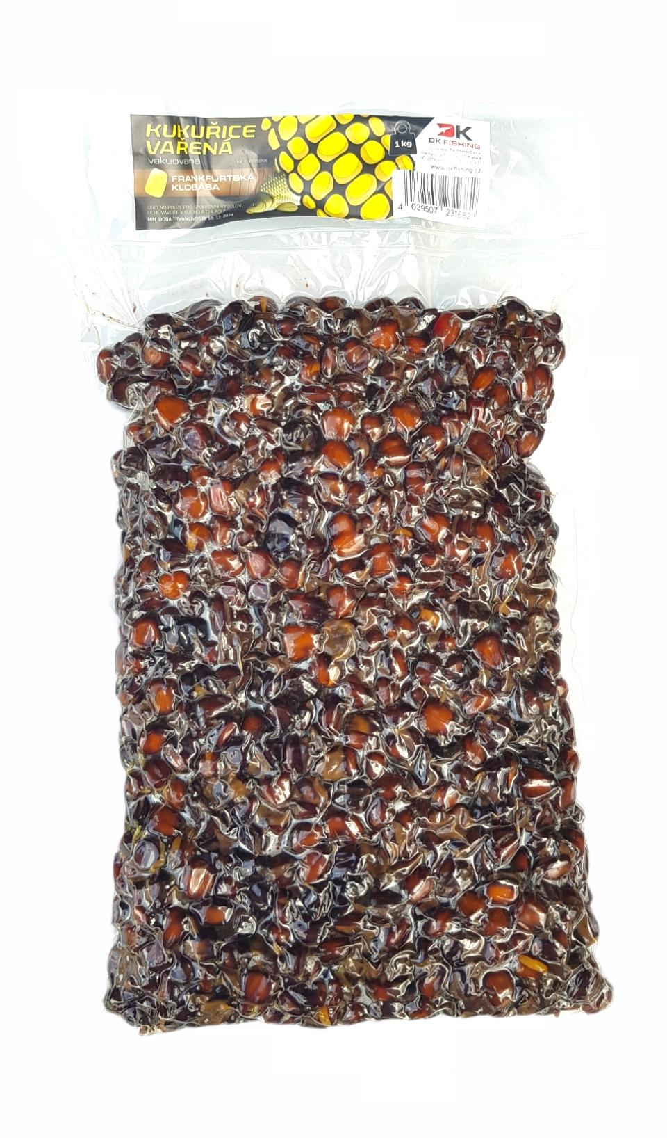 KS Fish vařená kukuřice 1 kg, klobása