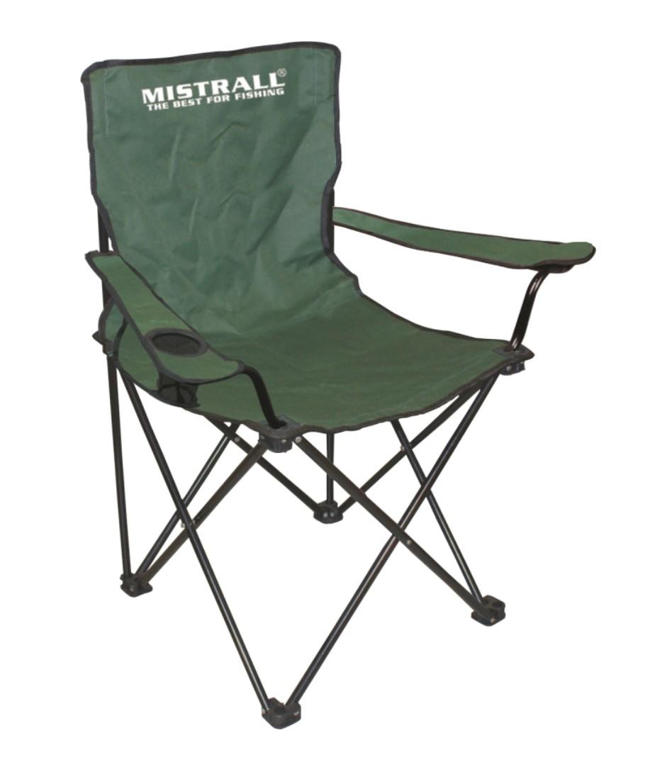 Mistrall rybářská židle zelená s područkami