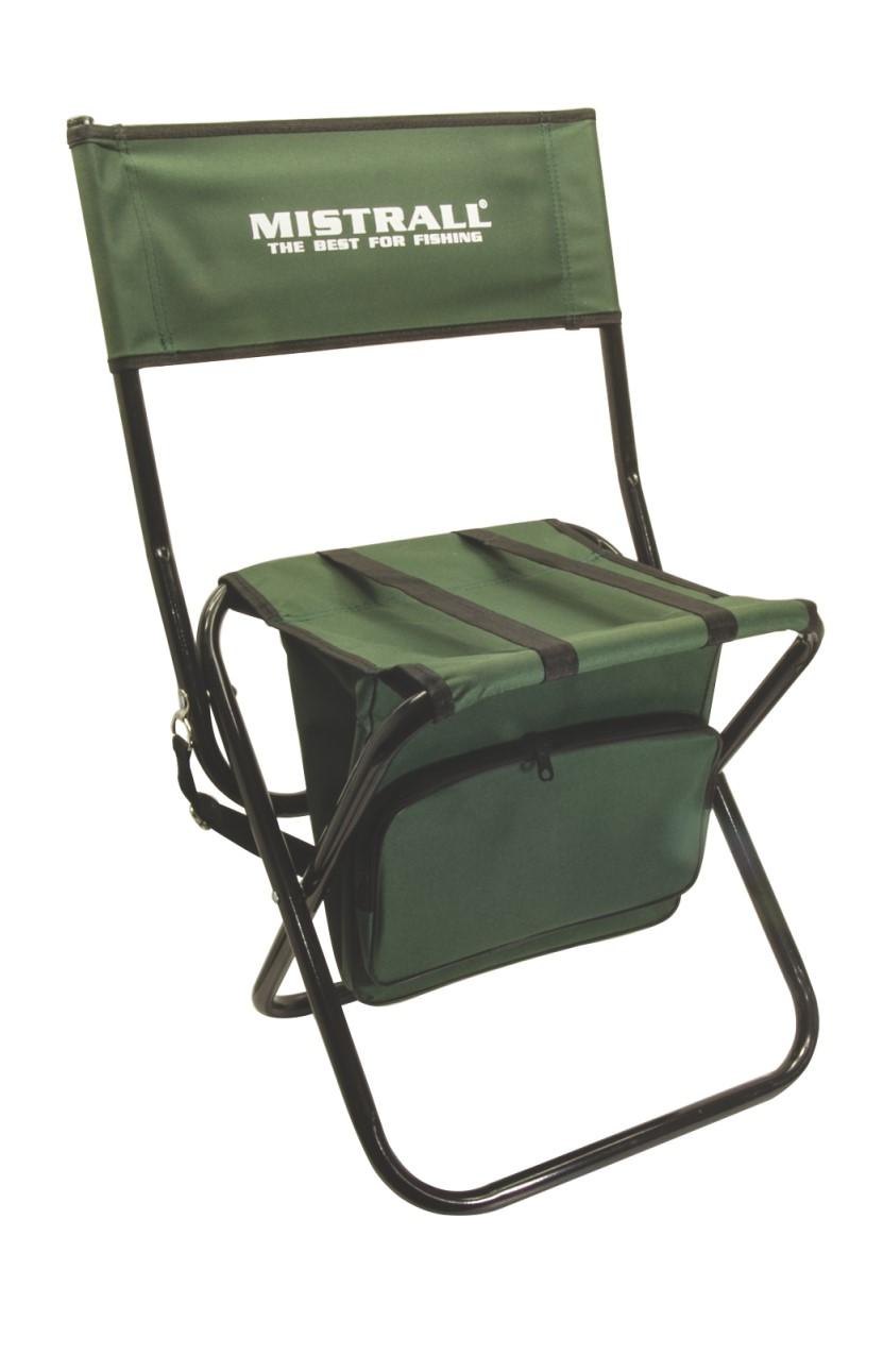 Mistrall rybářská židle s opěrátkem a taškou, zelená