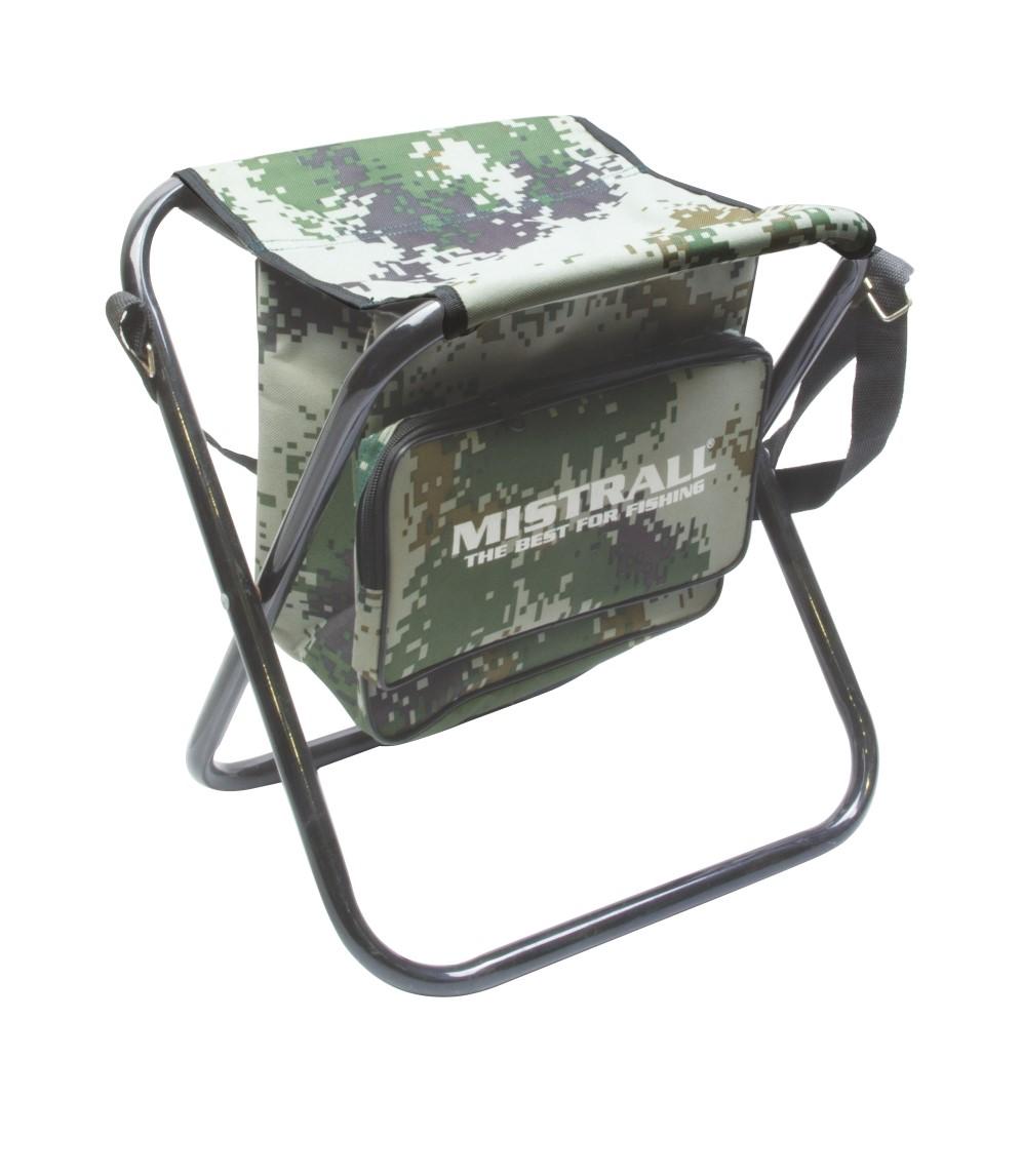 Mistrall židle bez opěradla s taškou L, maskáč