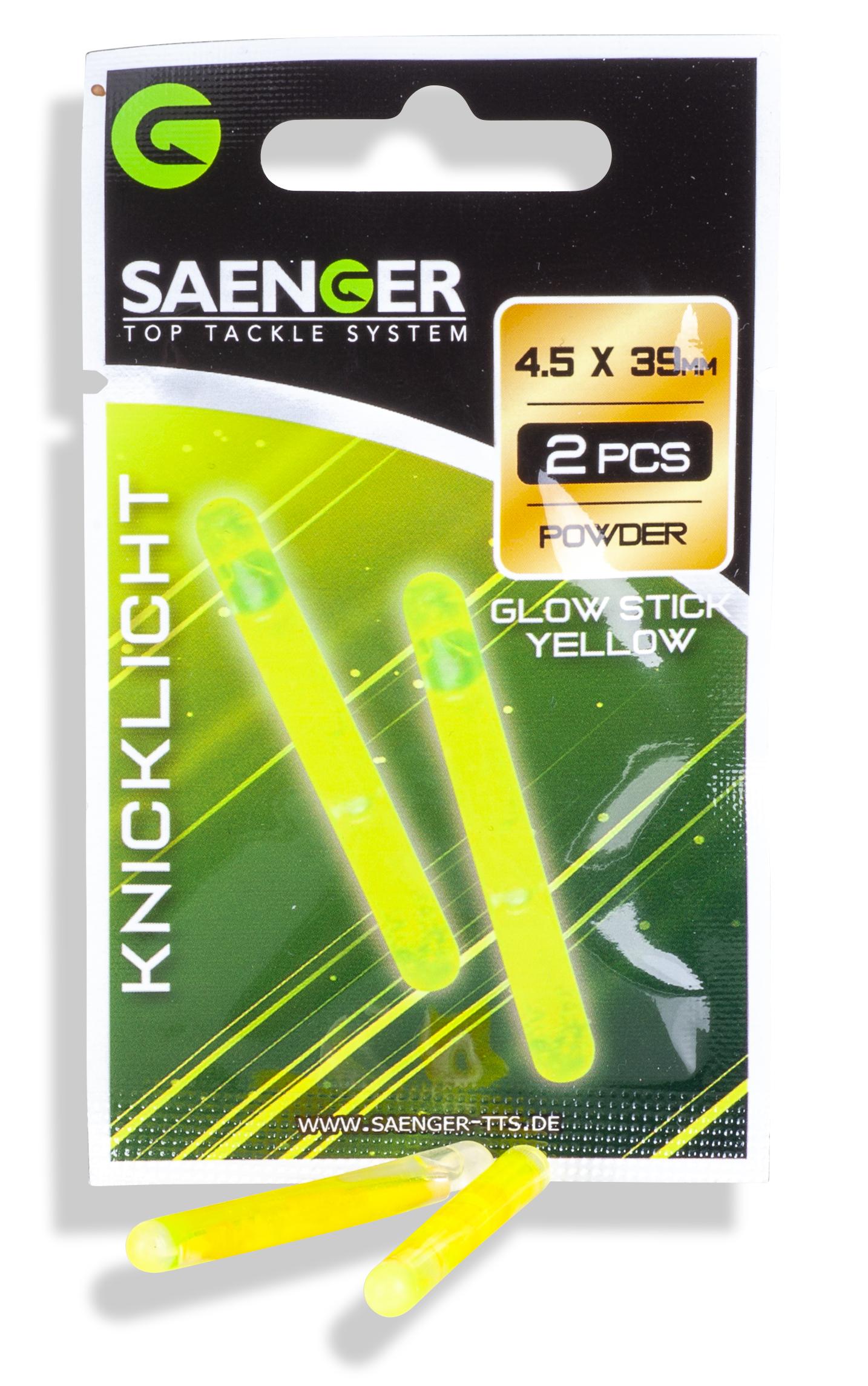 Saenger chemické světlo 4,5 x 39 mm, žlutá, bal. 2 ks