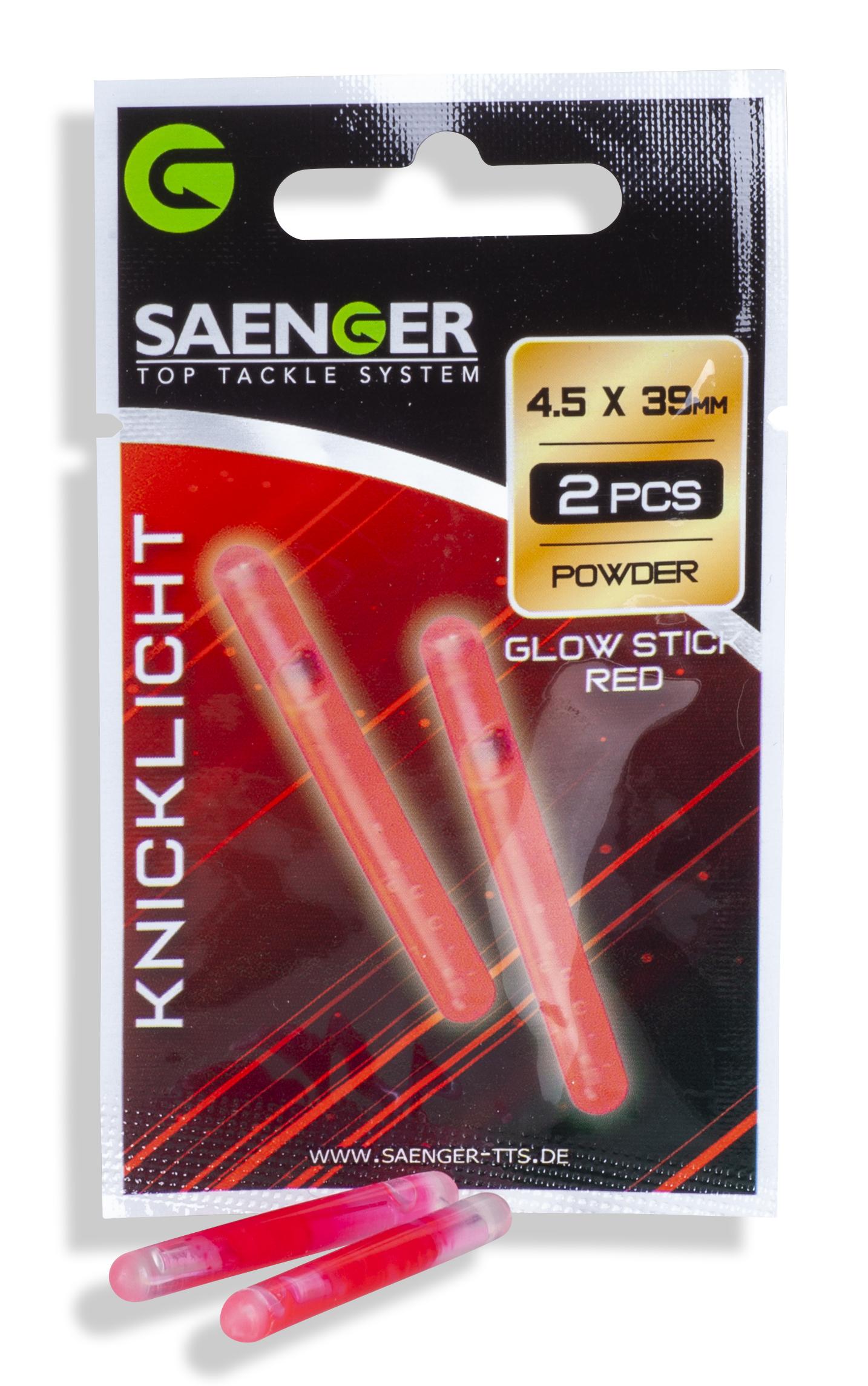 Saenger chemické světlo 4,5 x 39 mm, červená, bal. 2 ks