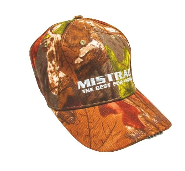 Mistrall kšiltovka se světlem vzor oranžové listí