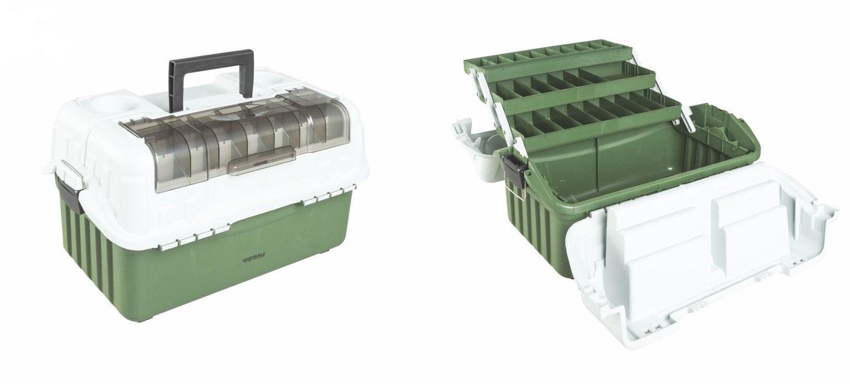 Mistrall rozkládací kufřík na bižuterii, zelený, 440 x 250 x 180 mm