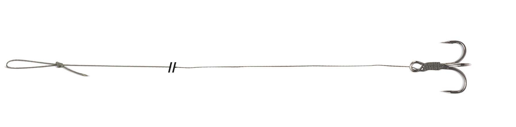 Návazec Uni Cat Treble Hook Rig Velikost 2/0
