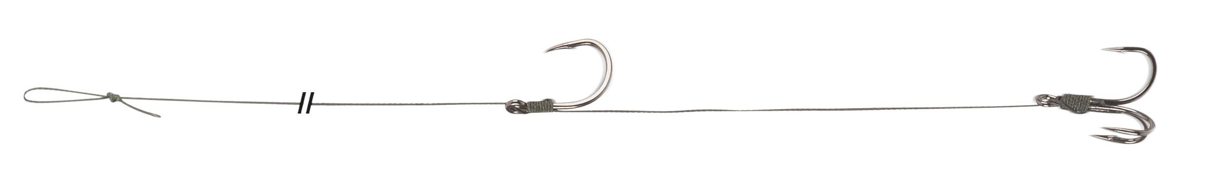 Návazec Uni Cat Single/Treble Hook Rig Nosnost 85 kg