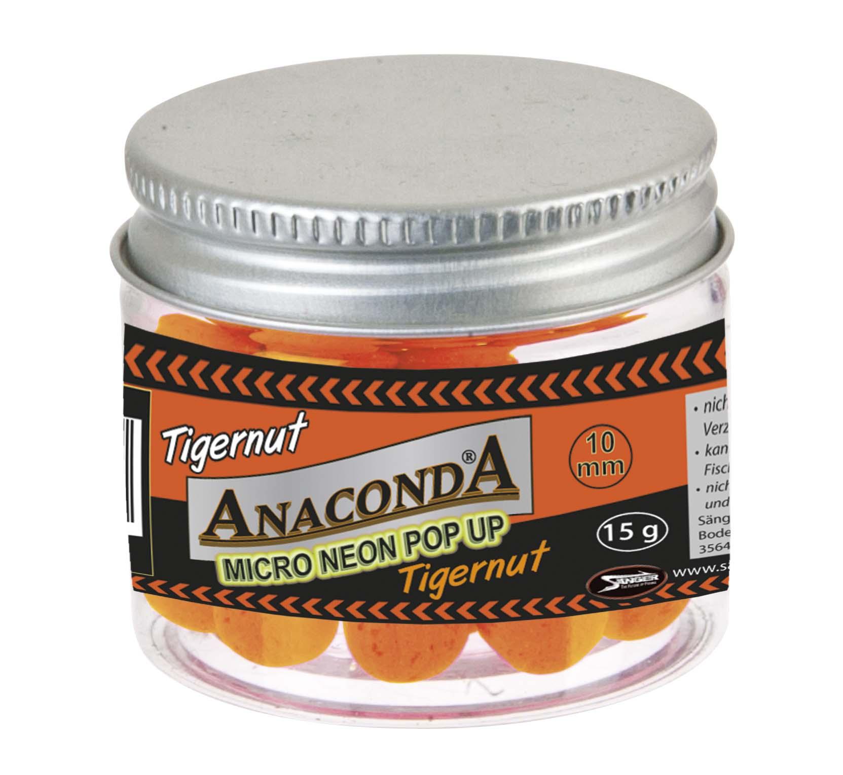 Micro neon pop-up s príchuťou Anaconda - Tigrý orech