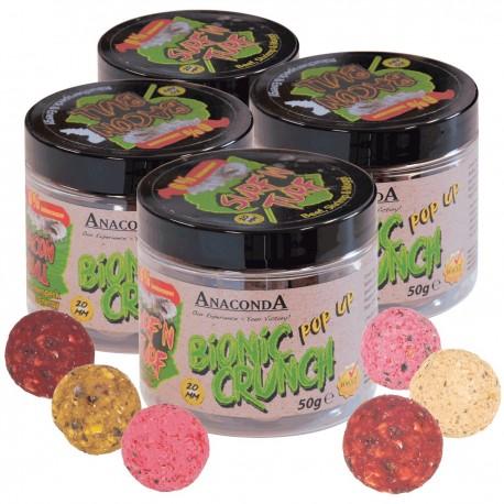 Pop up boilie Anaconda Bionic Crunch 50g Příchuť Strawberry Milkshake