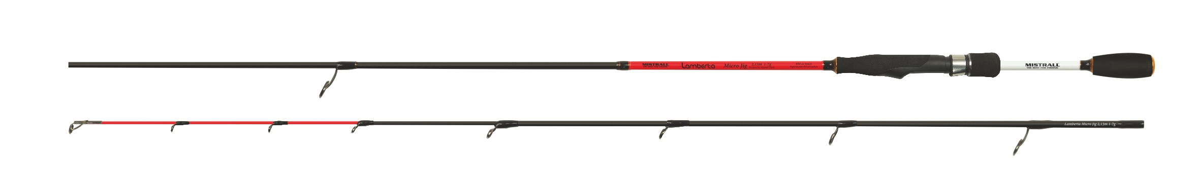 Mistrall prut Lamberta Micro Jig Varianta 1,98m, červená