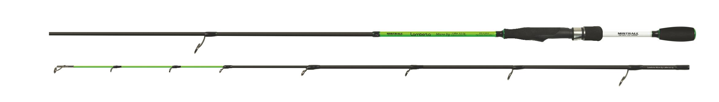 Mistrall prut Lamberta Micro Jig Varianta 2,13m, zelená