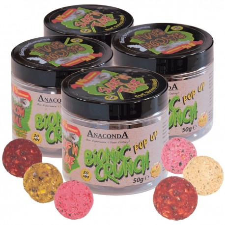 Pop up boilie Anaconda Bionic Crunch 50g Příchuť Surf´N Turf