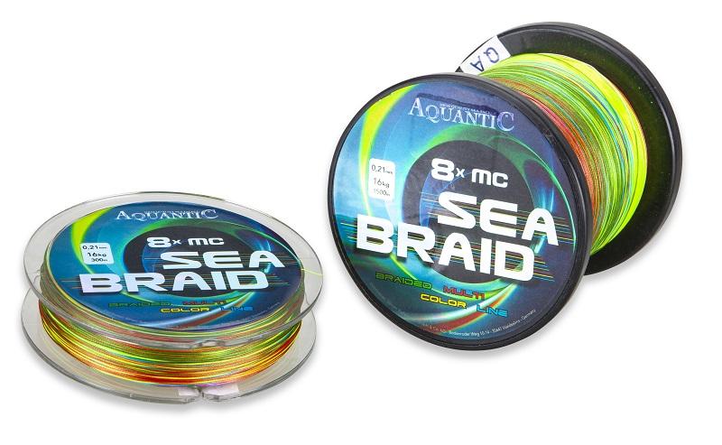 Aquantic šňůra osmipramenná MC Sea-Braid 0,13 mm/1500 m multicolor