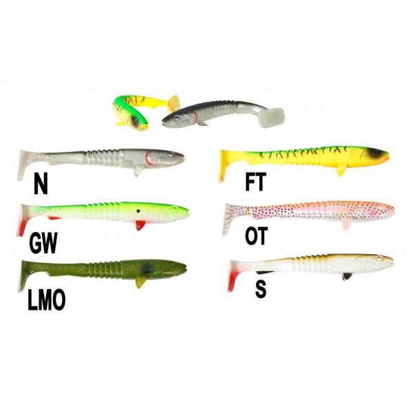 Uni Cat nástraha Goon Fish, 15 cm Vzor LMO, 3ks/bal